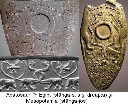 Apatosauri in Egipt si Mesopotamia